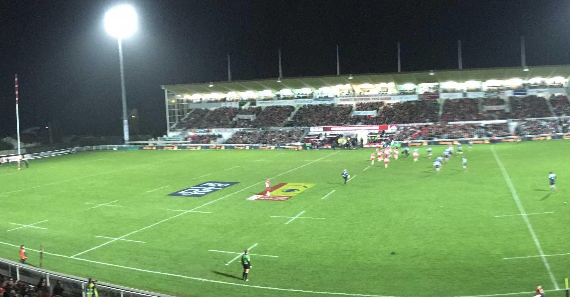 Rugby: P. MENDY, parrain du derby BO - Bayonne